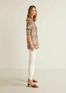 Print jacquard blazer