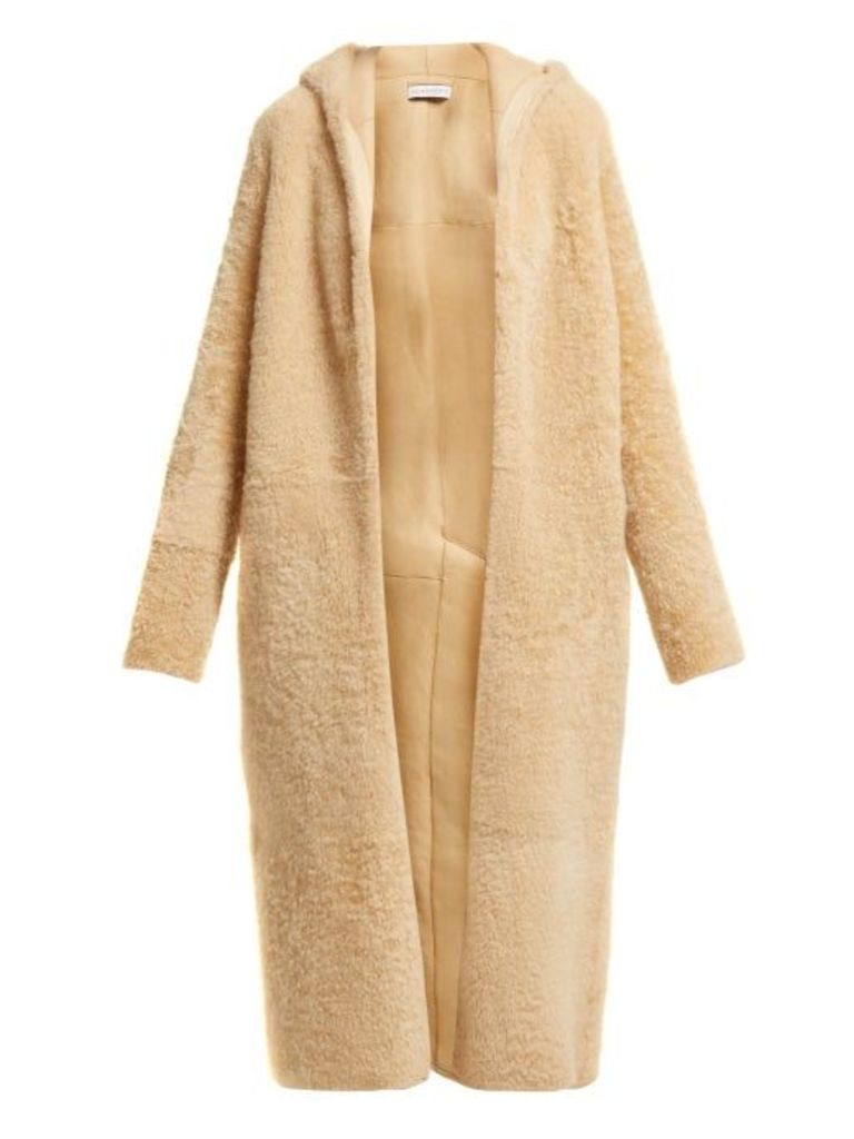 Inès & Maréchal - Elton Hooded Shearling Coat - Womens - Beige