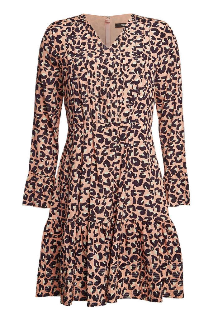 Steffen Schraut Printed Silk Mini Dress