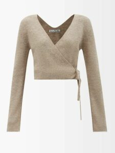 Inès & Maréchal - Equilibre Notchel Lapel Shearling Coat - Womens - Navy