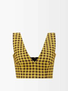 Jw Anderson - Leopard Print Sleeve Polka Dot Dress - Womens - Pink Multi