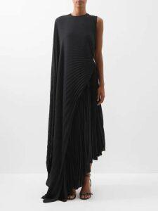 Cefinn - Tie Waist Voile Mini Dress - Womens - Navy