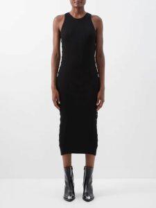 See By Chloé - Ruffled Georgette Mini Dress - Womens - Black