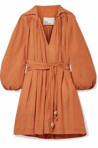 Lisa Marie Fernandez - Cotton-gauze Mini Dress - Orange