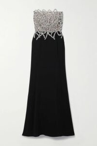 Three Graces London - Joan Ruffled Tiered Linen Maxi Dress - Crimson