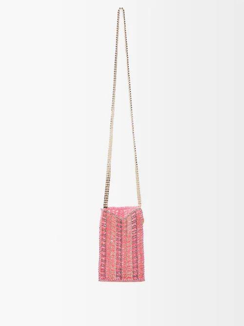 Missoni - Lurex Knit Short Sleeved Top - Womens - Pink