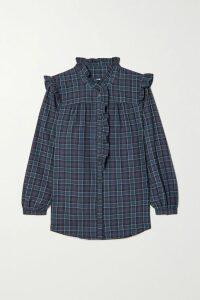 Miguelina - Mindy Lace-trimmed Cotton-voile Dress - Blush