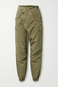 Miguelina - Felicia Off-the-shoulder Guipure Lace-trimmed Cotton And Silk-blend Satin Maxi Dress - Coral