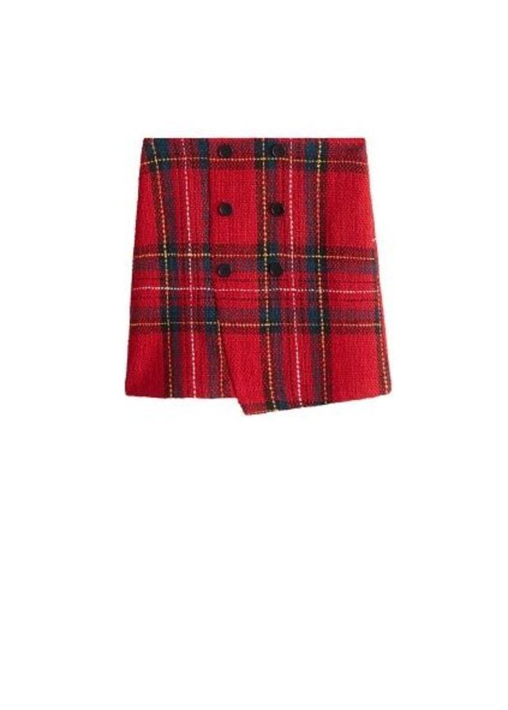 Tweed miniskirt
