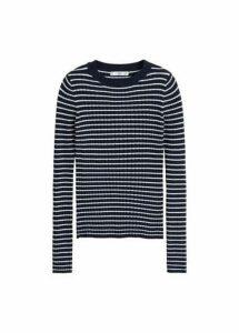 Striped rib sweater