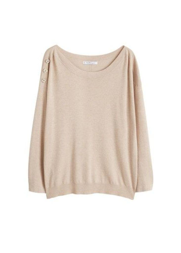 Bead shoulder sweater
