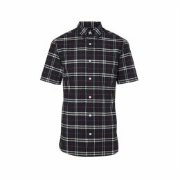 Burberry Short-sleeve Check Stretch Cotton Shirt