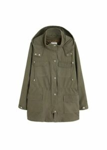 Pockets cotton parka