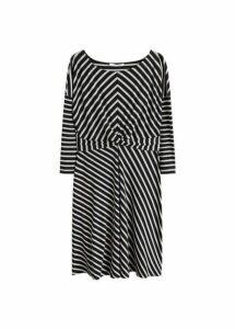 Knot striped dress
