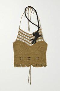 Dodo Bar Or - Embroidered Tasseled Cotton-gauze Mini Skirt - Mustard