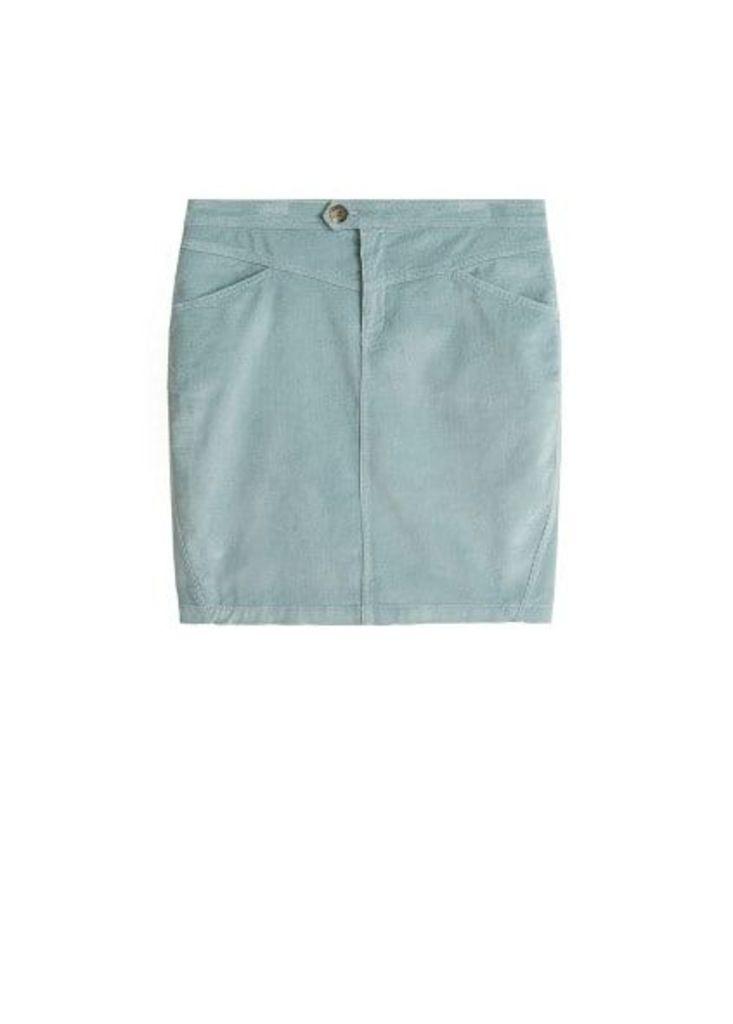 Corduroy cotton skirt