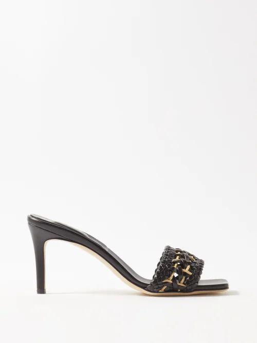 Racil - Alfie Pinstripe Single Breasted Wool Blend Blazer - Womens - Navy