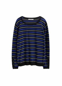 Fine-knit striped sweater
