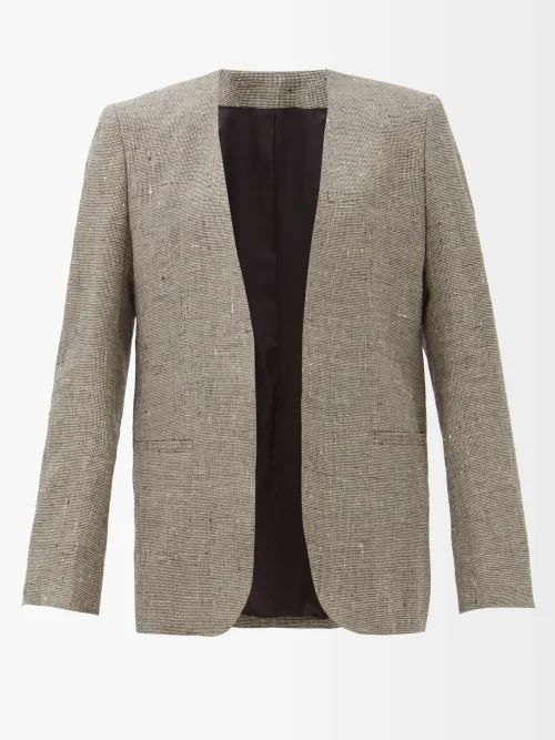 Dolce & Gabbana - Single Breasted Floral Jacquard Blazer - Womens - Gold
