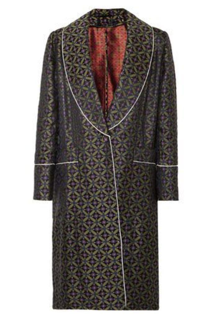 Golden Goose Deluxe Brand Woman Jacquard Jacket Leaf Green Size L