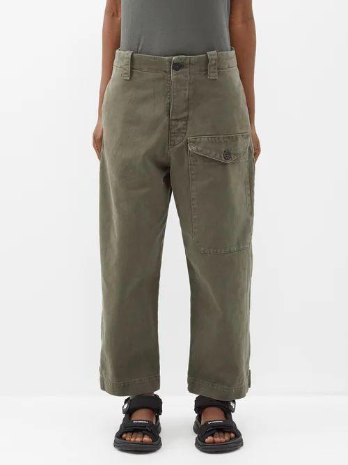 Gabriela Hearst - Angela Double Breasted Houndstooth Cashmere Blazer - Womens - Green Multi