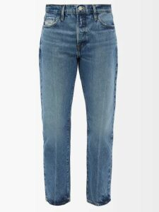 Charles Jeffrey Loverboy - Polka Dot Print Safety Pin Cotton Twill Blazer - Womens - Navy Multi