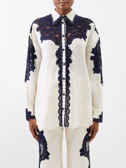 Charles Jeffrey Loverboy - Leopard Print Safety Pin Wool Blazer - Womens - Leopard