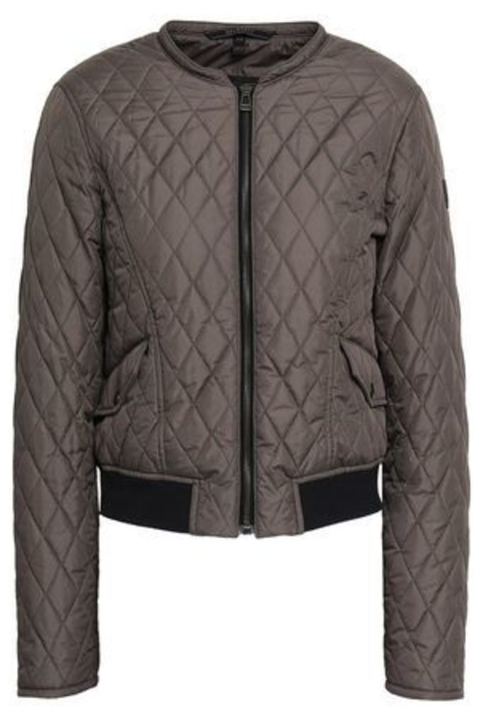 Belstaff Woman Cassell Quilted Shell Down Bomber Jacket Anthracite Size 40