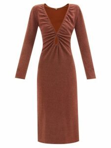 Palmer//harding - Double Breasted Linen And Wool Blend Trench Coat - Womens - Navy