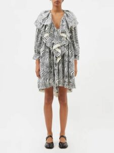 Gucci - Web Stripe Intarsia Cable Knit Wool Sweater - Womens - Black Multi
