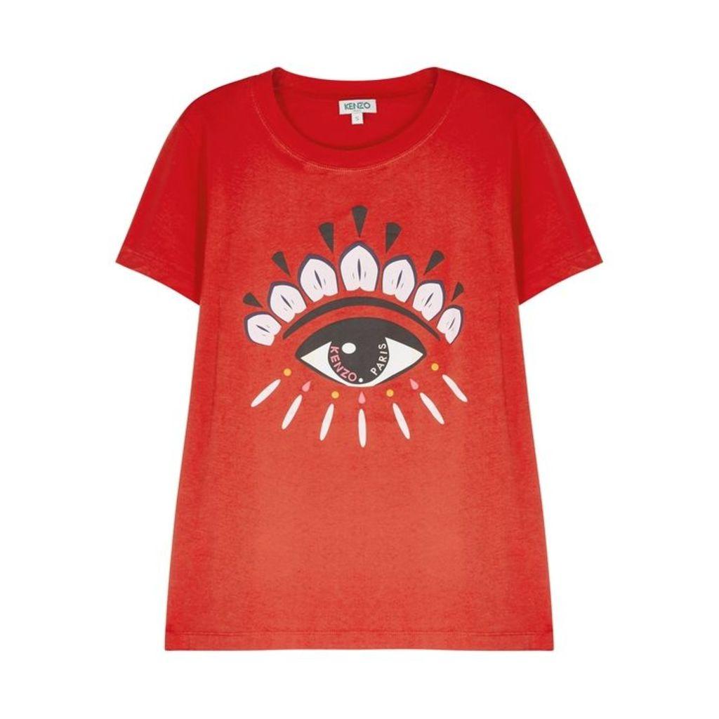 Kenzo Red Eye-print Cotton T-shirt