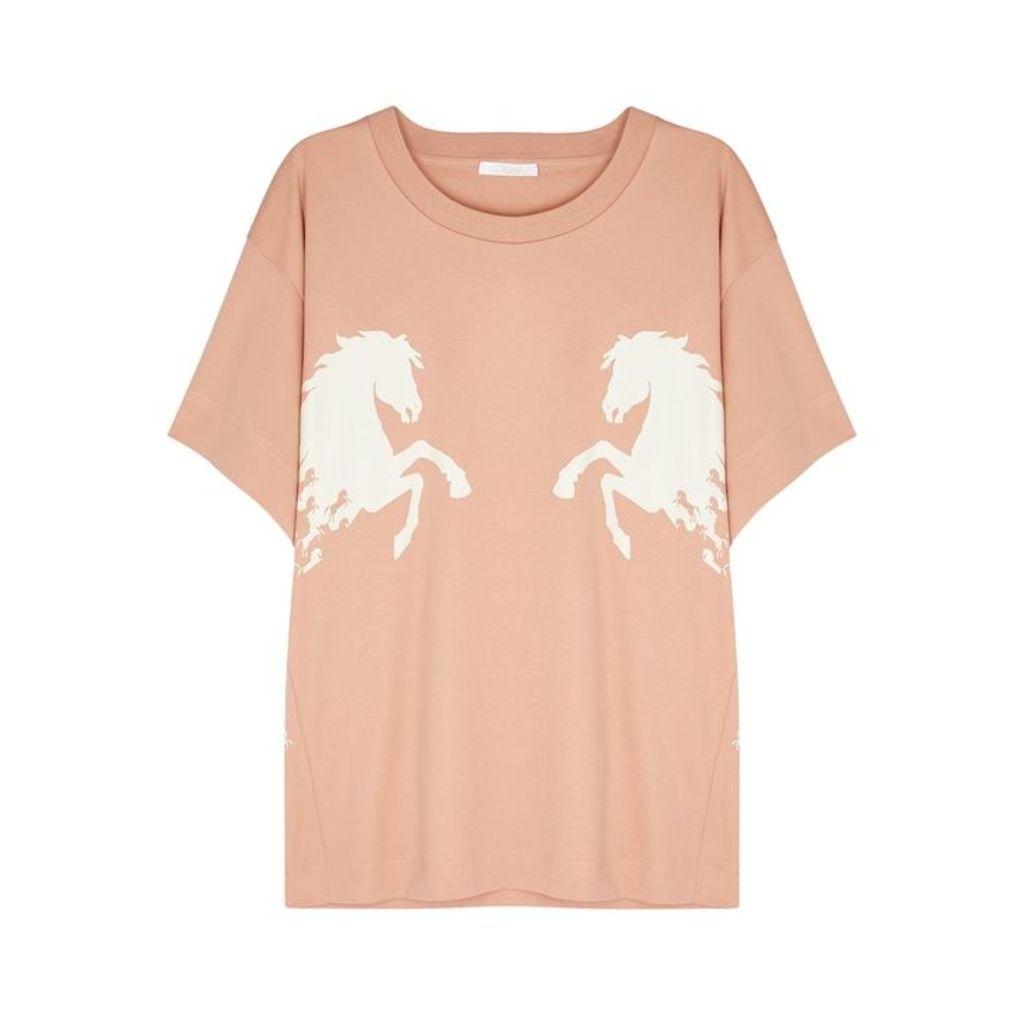 Chloé Horse-print Cotton T-shirt