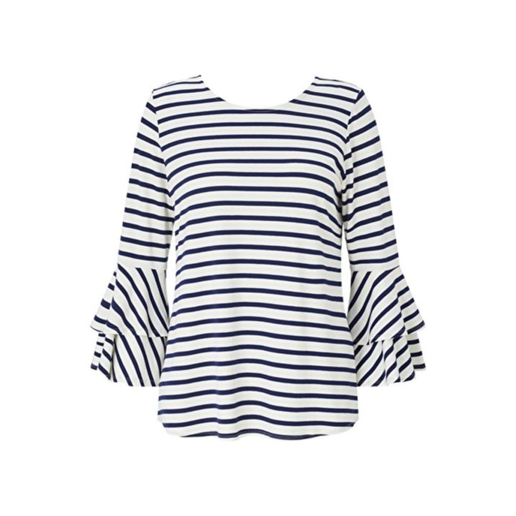 Baukjen 3-4 Sleeve Ruffled Sailor Sweater