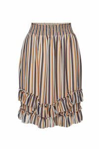 Steffen Schraut Striped Skirt with Ruffles