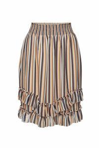 Steffen Schraut Striped Skirt with Ruffles