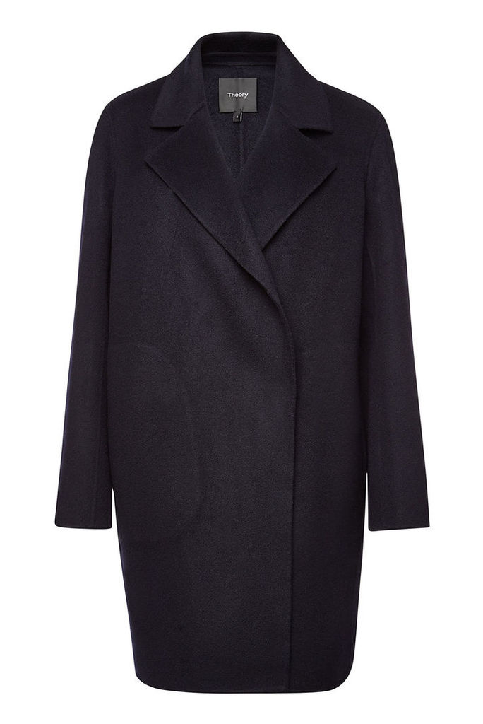 Theory Boy Wool Coat with Cashmere