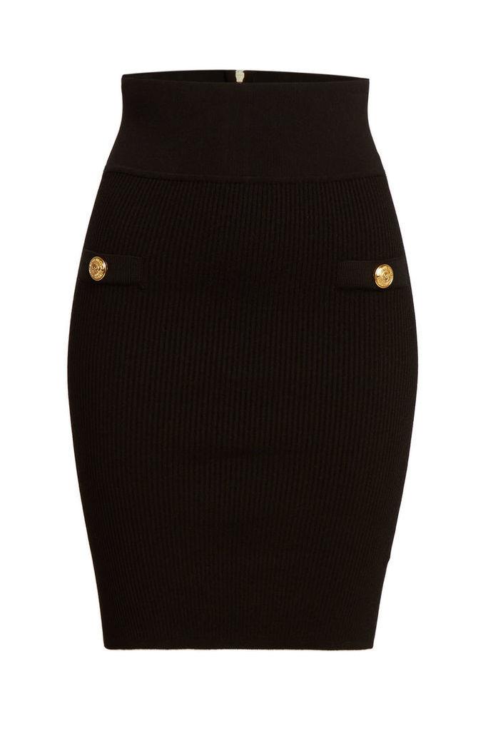 Balmain High Waist Pencil Skirt