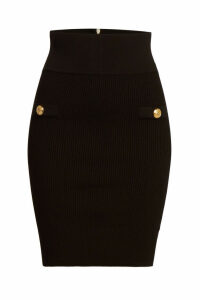 Balmain High Waist Pencil Skirt