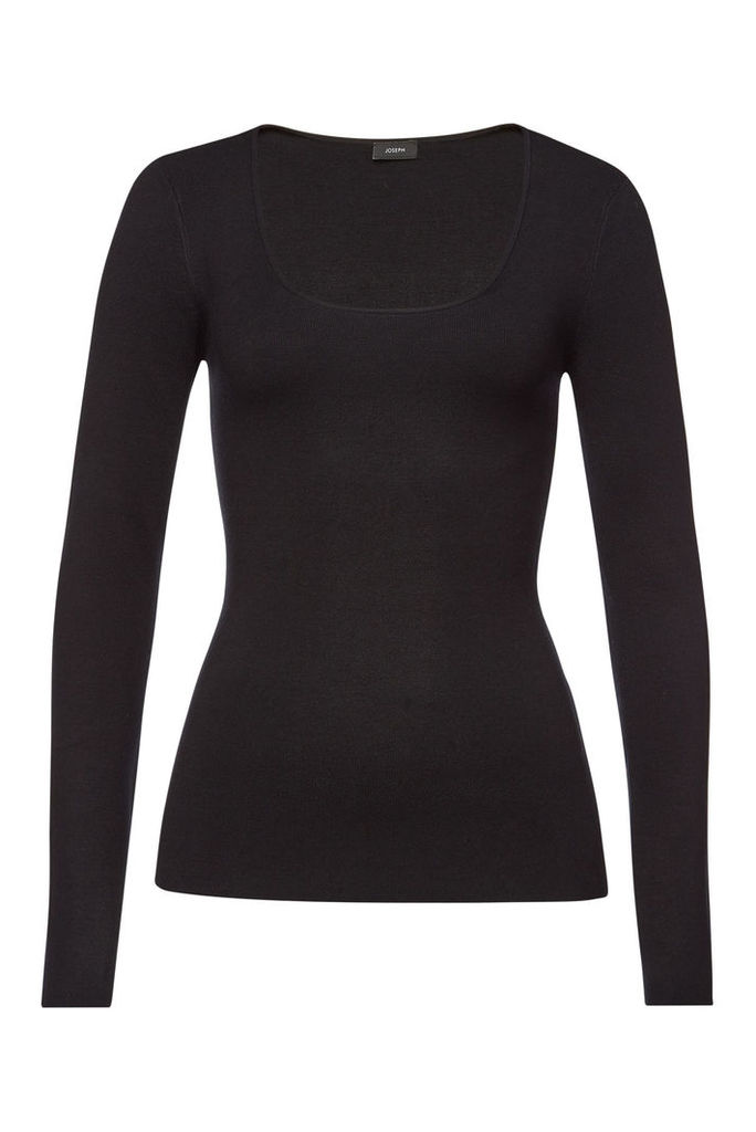 Joseph Long Sleeved Top with Silk