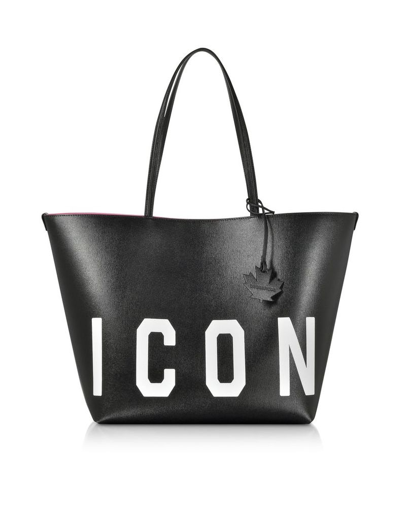 DSquared2 Designer Handbags, Saffiano Leather Icon Traveler Tote bag