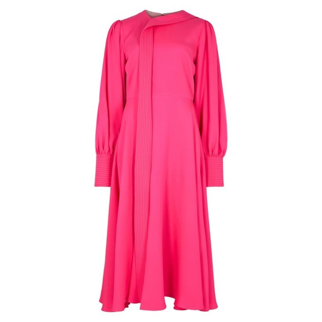 Roksanda Adyn Hot Pink Silk Crepe Dress