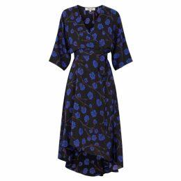 Diane Von Furstenberg Eloise Printed Silk Midi Dress