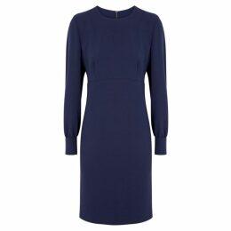 Boutique Moschino Dark Blue Crepe Dress