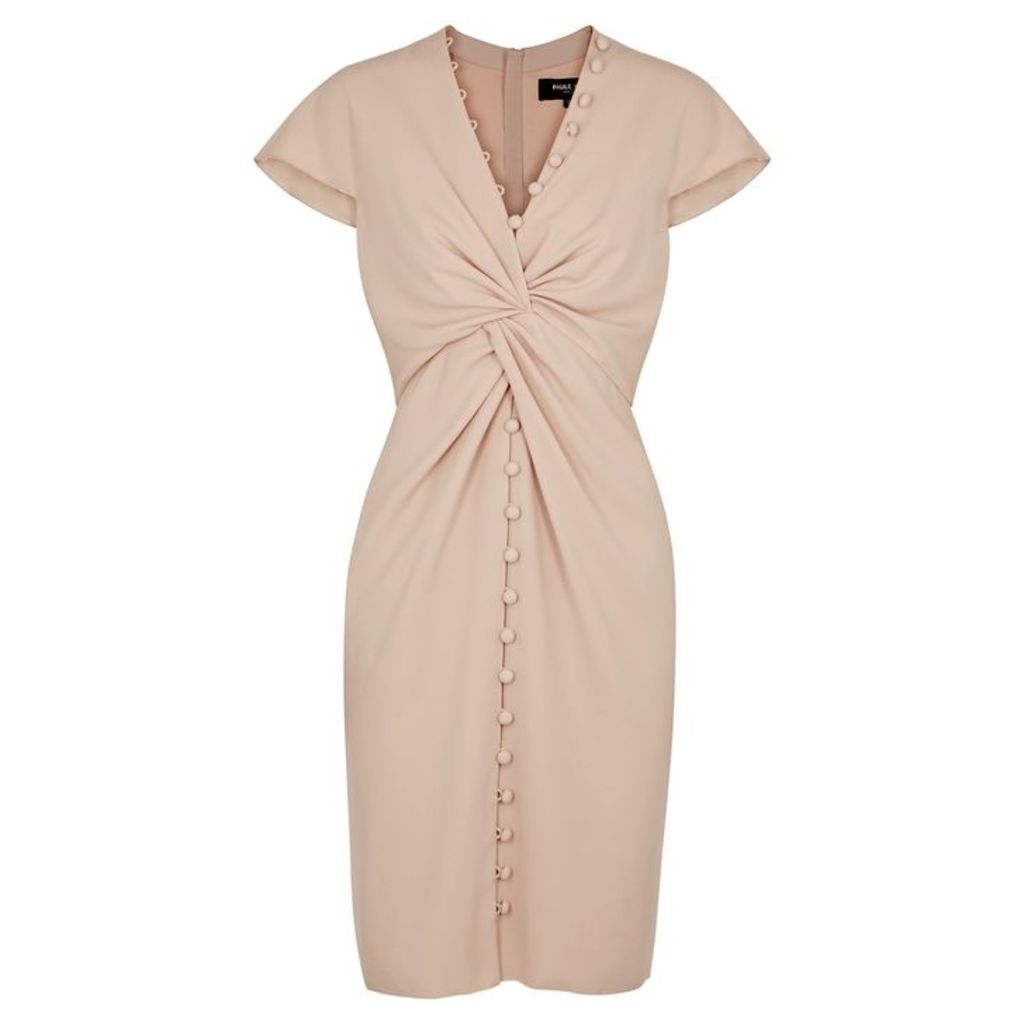 Paule Ka Blush Twist-effect Dress
