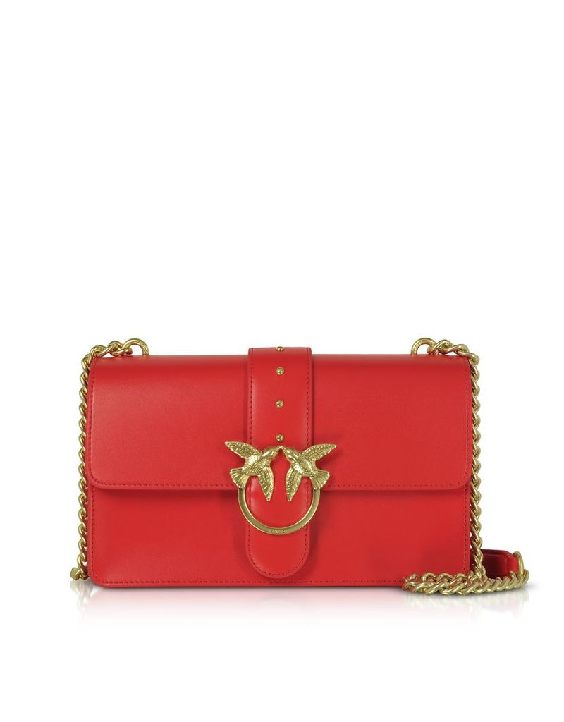 Pinko Designer Handbags, Leather Love Simply 10 Shoulder Bag