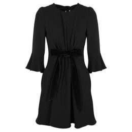 Diane Von Furstenberg Augustine Velvet-trimmed Mini Dress