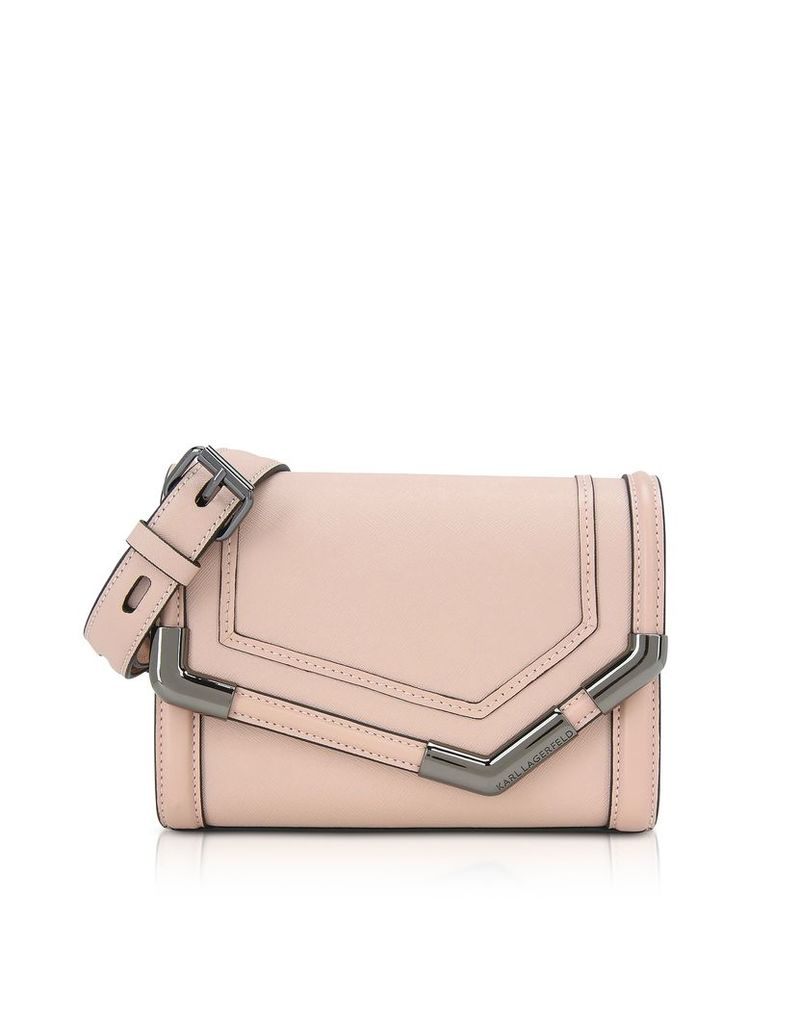 Karl Lagerfeld Designer Handbags, K/Rocky Saffiano Small Shoulder Bag
