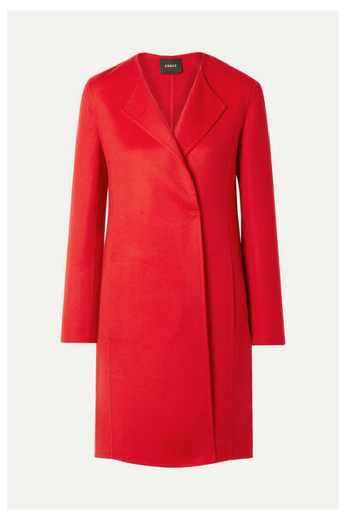 Akris - Blacky Cashmere Coat - Red