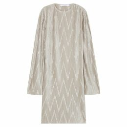 Givenchy Silver Pleated Stretch-satin Dress
