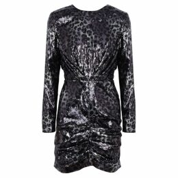 MSGM Leopard Sequinned Dress